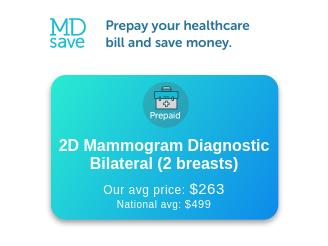 2D Mammogram Diagnostic Bilateral (2 Breasts)